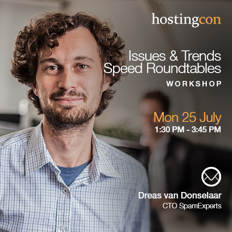Dreas Van Donselaar to moderate a HostingCon workshop