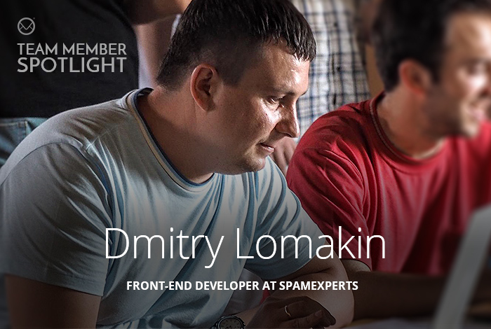 Dmitry Lomakin, Front End Developer at SpamExperts