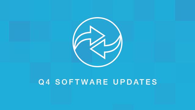 Q4 Software Updates