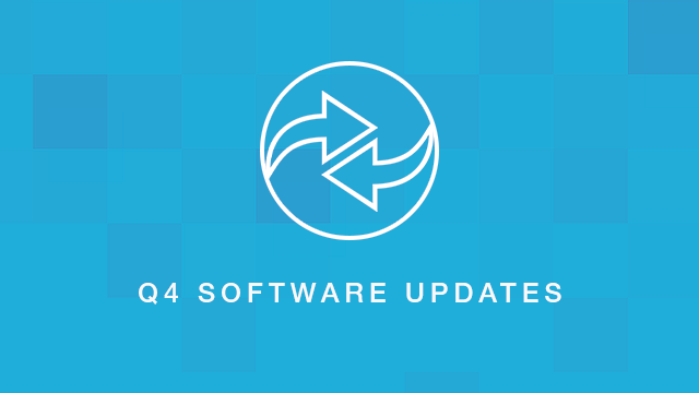 Q4 Software Updates